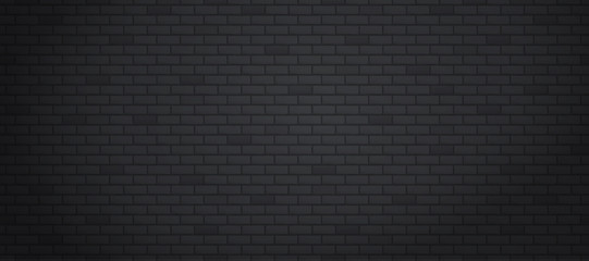 Black brick wall texture or background with copy space for display of content design for advertisement product. Vector illustration
