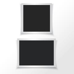 Retro photo frames. Vector illustration