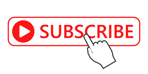 Click to subscribe button icon. Vector illustration