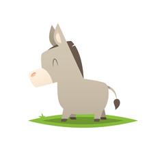 Cartoon donkey vector isolated illustration