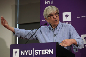Paul Romer, the 2018 Nobel Prize in Economics co-winner, speaks during a news conference at the New York University (NYU) Stern School of Business in New York City,