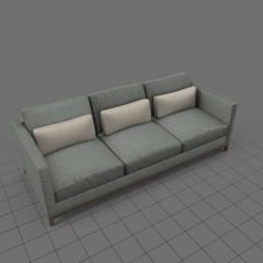 Contemporary sofa with pillows