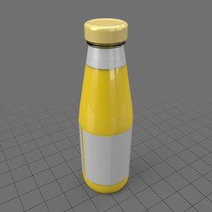 Thin mustard bottle with label