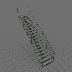 Straight industrial staircase