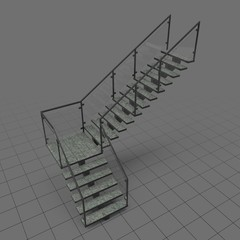 L-shaped industrial staircase