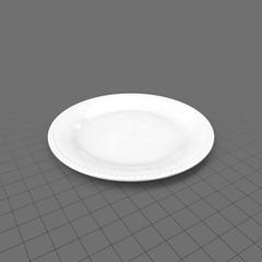 Classic flat dinnerware plate