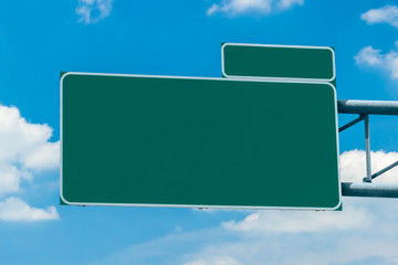 Blank green interstate exit sign ready for copy