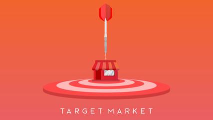 target market dart pointing illustration