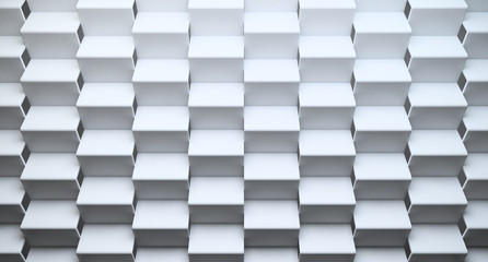 Zig zag or triangle wall. Modern abstract architecture background. Future concept. 3d illustration.