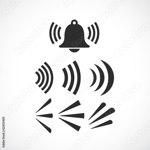 Ringing bell sounds vector icon