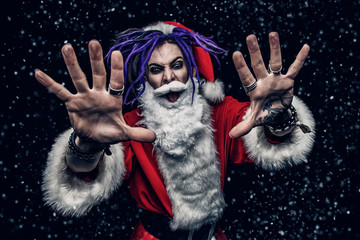 cool punk santa