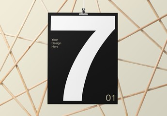 Contemporary Wood Poster Frame Mockups