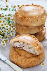 Elesh - traditional Tatar pastry with meat and potato