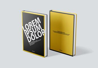 Maquettes de première et quatrième de couverture de livre