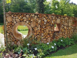 Holzwand, Sichtschutz