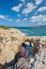 Sinners bridge on the Cyprus island.