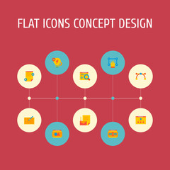 Set of website icons flat style symbols with website structure, vector tool, website text and other icons for your web mobile app logo design.