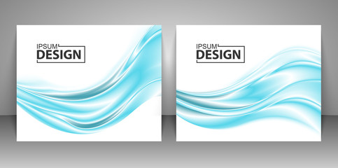 Collection backgrounds. Abstract wave background. Vector illustration.