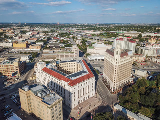 Aerial Cityscape of Downtown San Antonio, Texas Facing Towards East