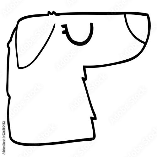 Line Drawing Cartoon Dog Face Stock Image And Royalty Free Vector