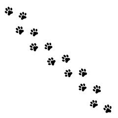 Paw Print. Flat style - stock vector.