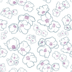Blue & Violet Flowers pattern