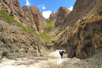 Yolyn Am  -  gorge in the Gurvan Saikhan Mountains of southern Mongolia.