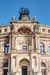 Poster Theater Eingangsportal der Semperoper in Dresden - Detailaufnahmen
