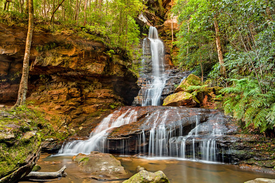 Empress Falls in the Blue Mountains National Park of Australia, New South Wales, NSW