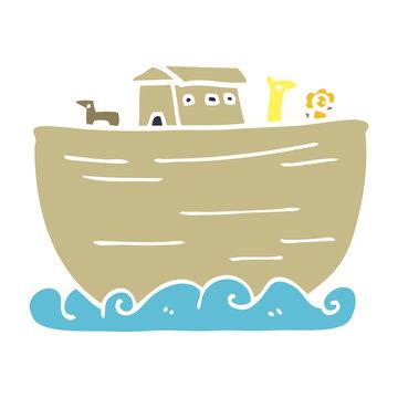 cartoon doodle noahs ark