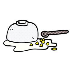 cartoon doodle spilt cereal bowl