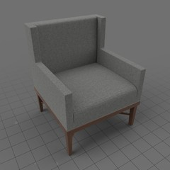Modern wing chair 6