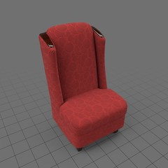 Armless wing chair