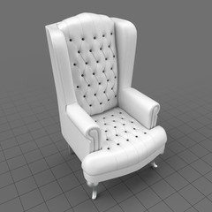 Tufted wing chair 2
