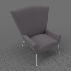 Modern wing chair 2