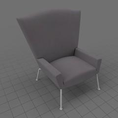 Modern wing chair 2