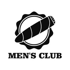 Men club logo. Simple illustration of men club vector logo for web design isolated on white background