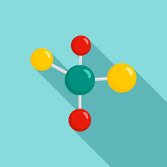 Chemistry molecule icon. Flat illustration of chemistry molecule vector icon for web design