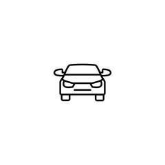 car automobile transport line black icon on white background