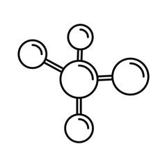 Chemistry molecule icon. Outline illustration of chemistry molecule vector icon for web design isolated on white background