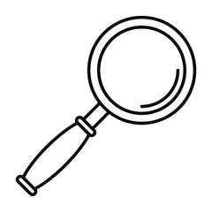 Magnify glass icon. Outline illustration of magnify glass vector icon for web design isolated on white background