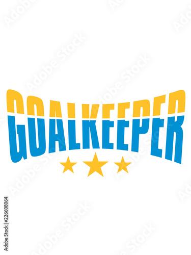Torwart Goalkeeper Torhuter Halten Fussball Schiessen Tor
