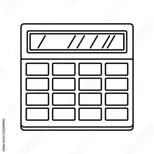 Calculator icon  Outline illustration of calculator vector icon for
