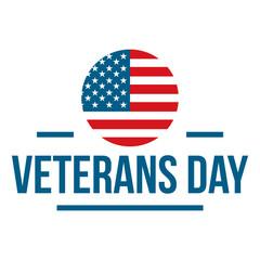Us veterans day logo. Flat illustration of us veterans day vector logo for web design