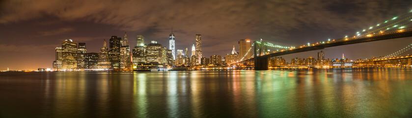 Panorama von New York Blick aus Brooklyn