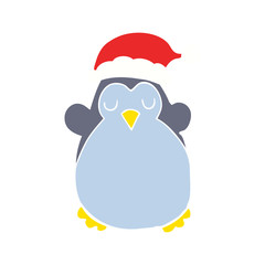 cute christmas penguin