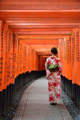 Autocollant pour porte Kyoto japan culture