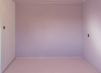 Empty chamber room with nothing inside and in modern stylish colors pink and purple rustic effect background