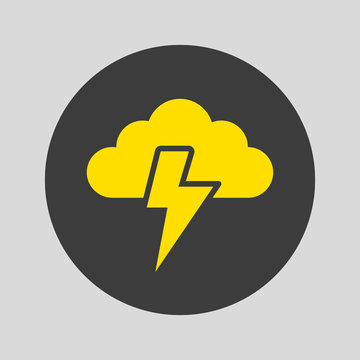 Storm icon on gray background.