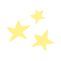 cartoon doodle yellow stars